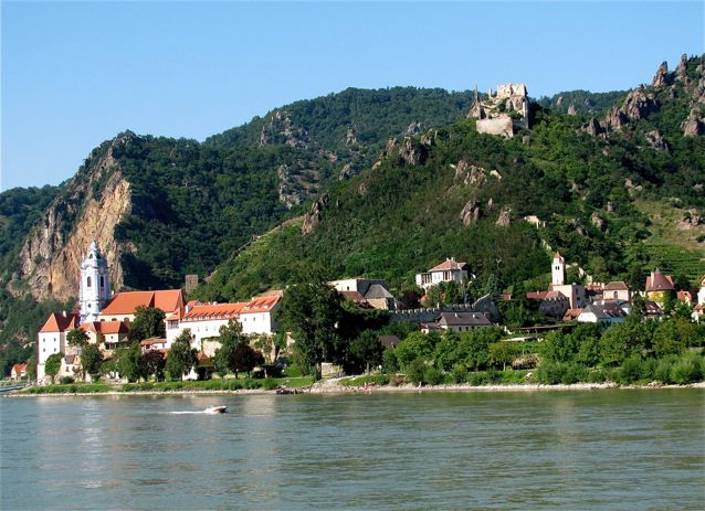 visiting Durnstein by boat and bike