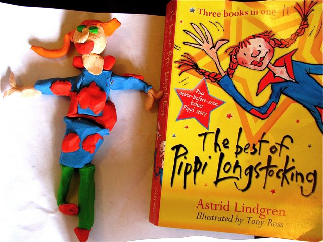 Fun with books around the world - we bought ton of Lindgreen in Sweden - Mozart's clay creation of admiration