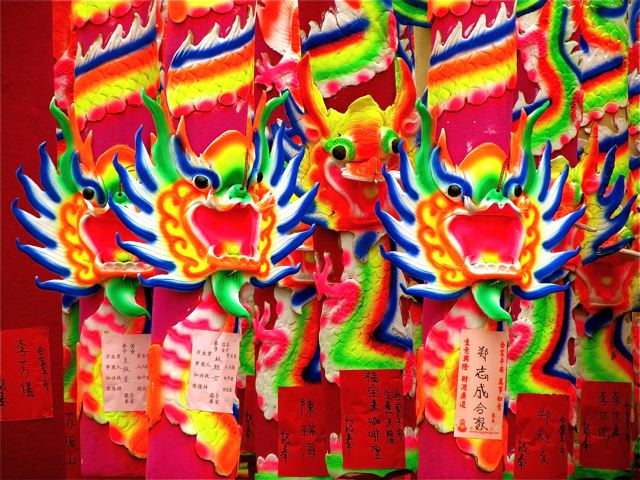 Southeast Asia Color - Sacred Chinese dragons