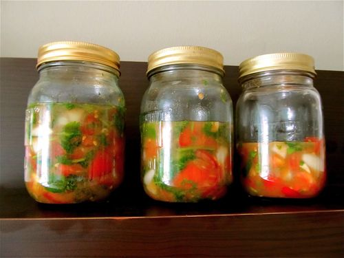 Lacto-fermented salsa in mason jars- ours are eaten up quickly