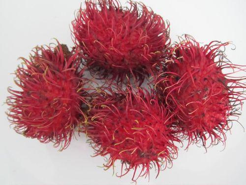 lovely, tasty but weird rambutan ..a fruit native to Malaysia