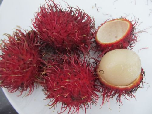 rambutan fruit inside and out