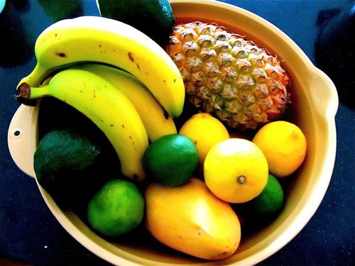 colorful fruits in a bowl