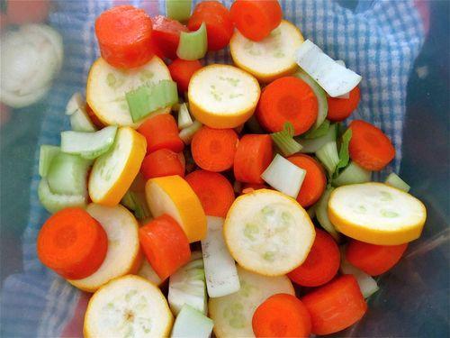 chopped veggie ingredients for bone broth