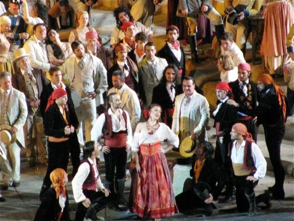 Carmen in Verona Arena with Placido Domingo and Franco Zeffirelli