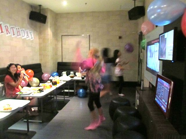 dancing and singing party