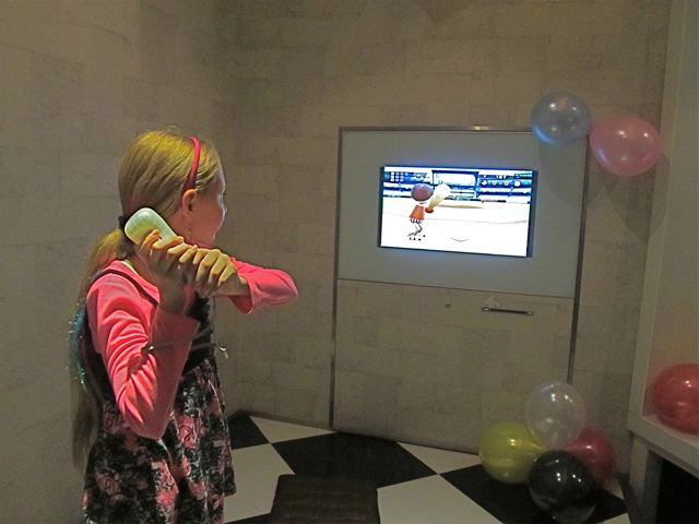 playing wii at the party