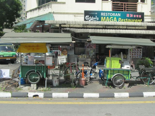 food stands every where in Penang