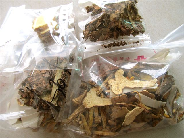 TCM Chinese herbs as I am given them from the hosptial
