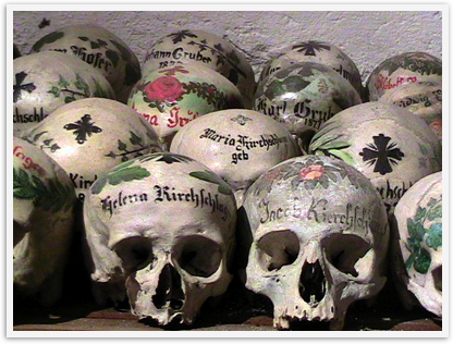 decorated skulls in Europe
