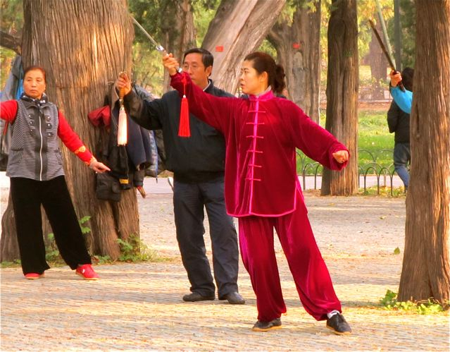 Tai Chi in Beijing parks - Chinese exercise and health