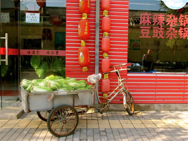 fresh food and market in China