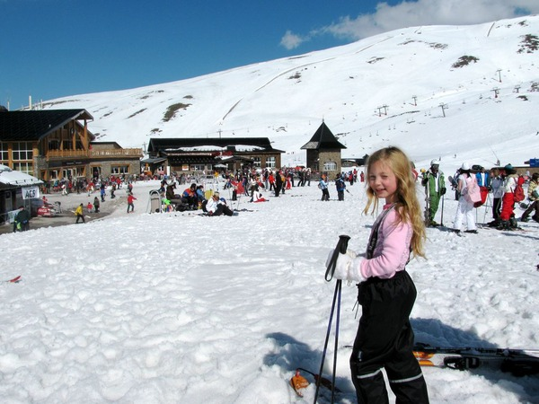 skiing the Sierra Nevada in Spain
