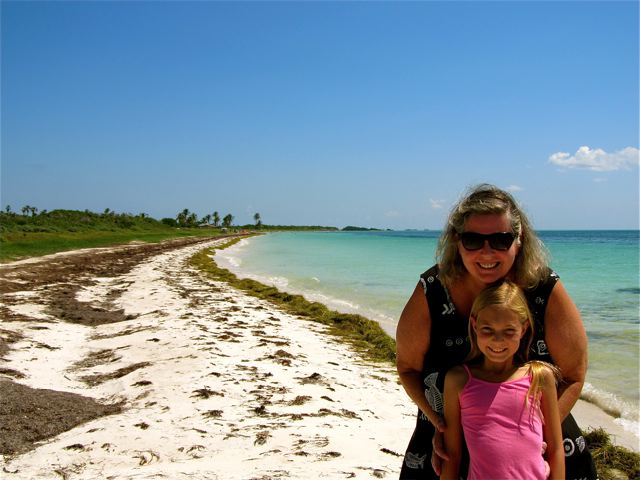Bahia Honda near Key West -Mom and daughter