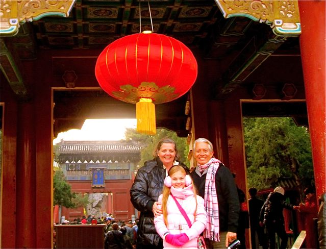 family touring Beijing