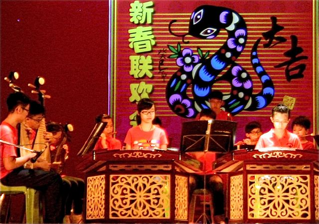 Chinese New Year celebration - traditional Chinese instruments