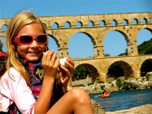 favorite ancient ruins for families like Pont du Gard in Provence