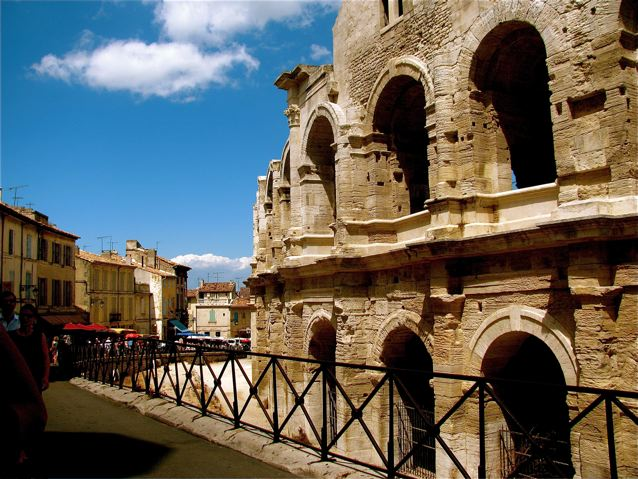 Best Roman and Greek ruins in the world like this ancient arena in Arles, France