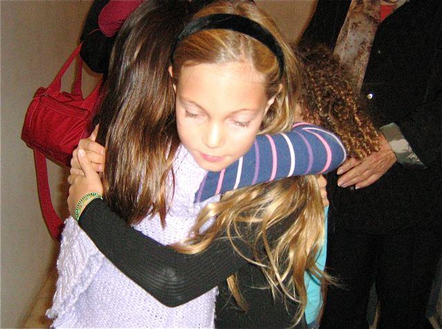 Hugs of gratitude - sweet girls
