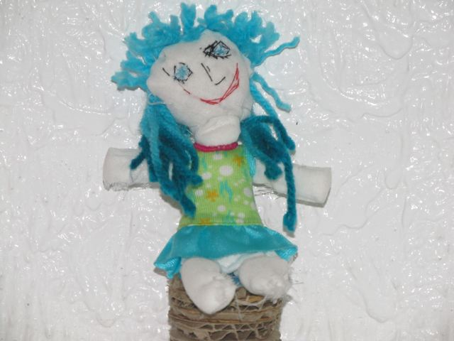 Adorable rag doll made by a child spontaneously= play at it's best