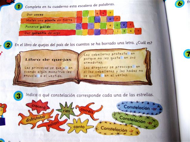 Learning Spanish in Spain kids school books