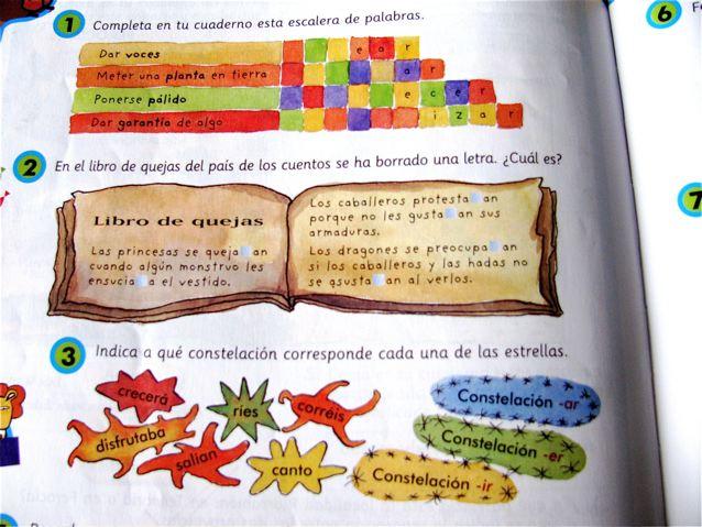 Learning Spanish in Spain kids school books