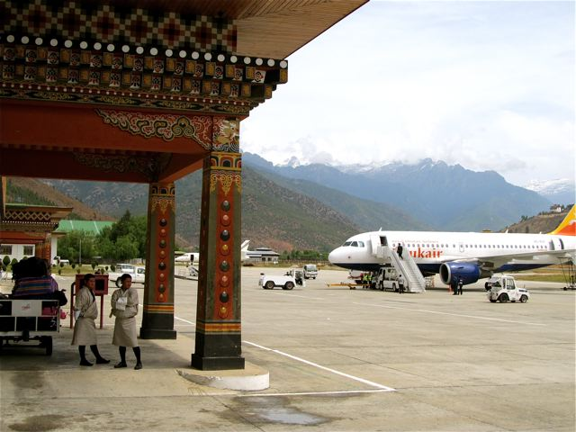 Bhutan Travel - arrival at the coolest airport