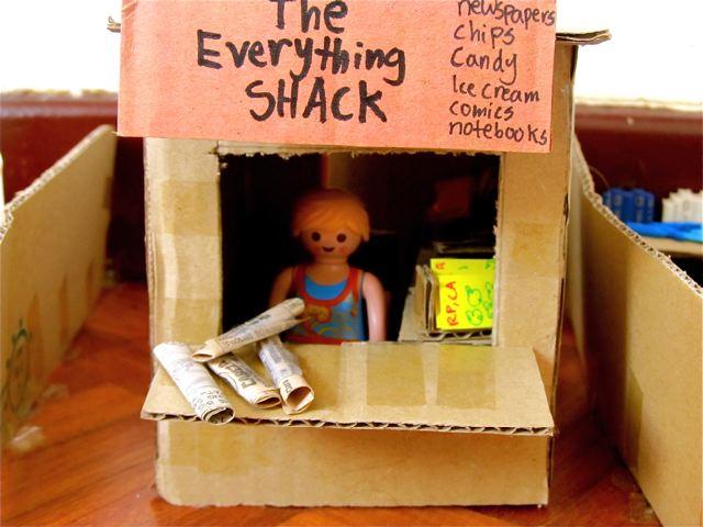 homeschool play - I think this kid can make anything!