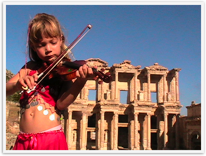 Make touring ancient sites like Ephesue fun even for young chlldren by using costumes, books and imagination