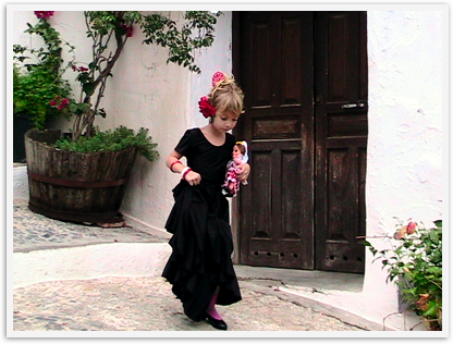 Education can be gained by spending time in another country and culture like our little flamenco dancer in Spain