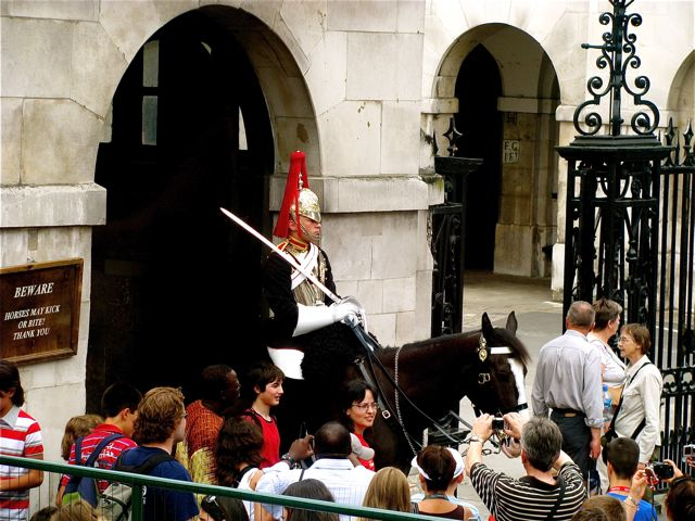 London changing of the guard - fun for families