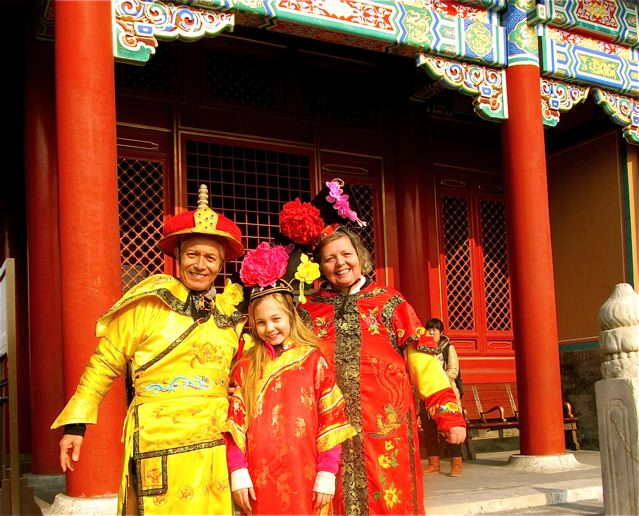 best tip for families traveling to Beijing - dress up like an Emperor and fly to the top attractions!