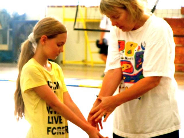Homeschool - learning volleyball at an International school after school class