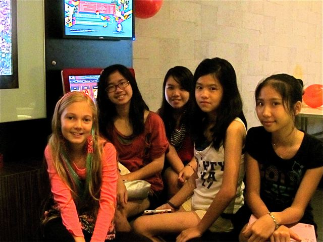 Homeschooling in Asia...hanging out with local friends