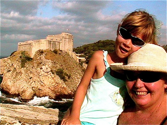 Croatia travel with kids - Mom and daughter sight seeing