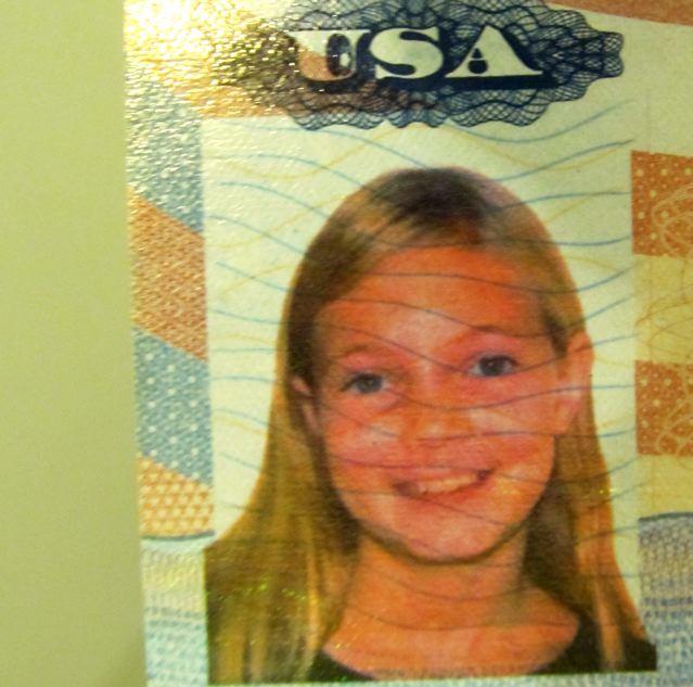 Around the world travel kid on her second passport