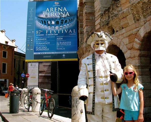 worlds most traveled kid in Verona for the Opera at the Arena with Placido Domingo and Franco Zeffirelli