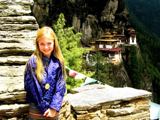 Mozart - most well traveled kid after climbing to the Tiger's Nest in Bhutan