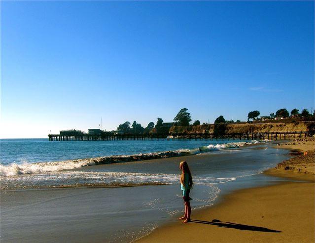 Beautiful California winter beach
