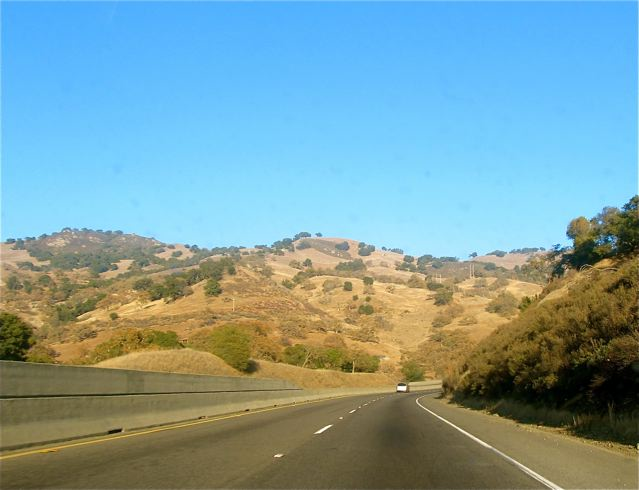 driving in California hills
