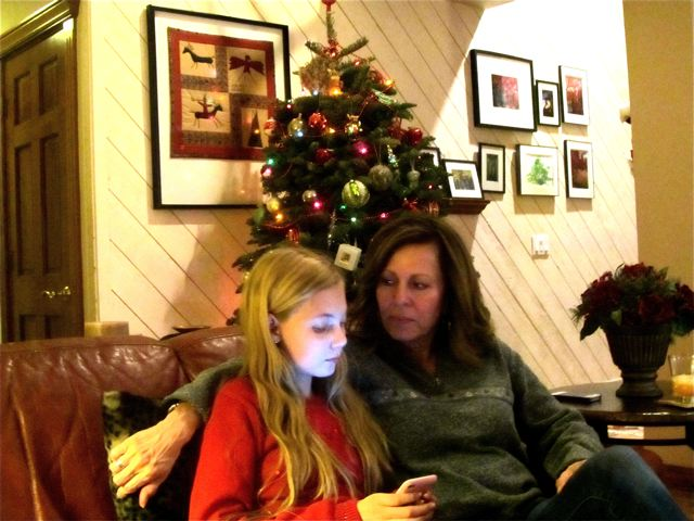 family time together at Christmas - Mozart with her aunt