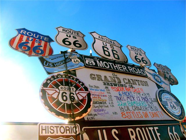 Route 66 - all signs for the mother road