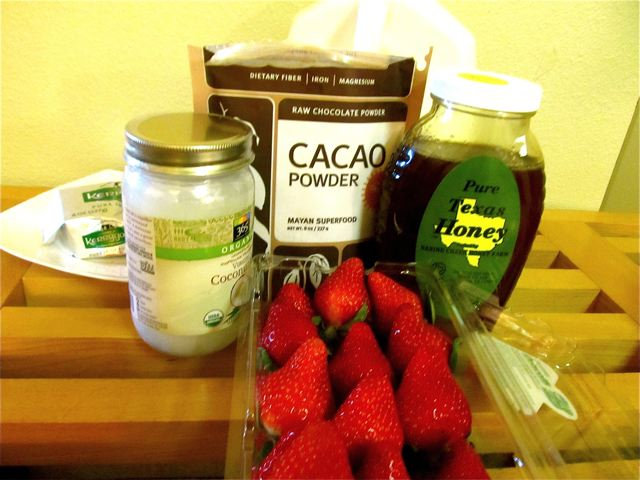 recipe ingredients for paleo chocolate dipped strawberries