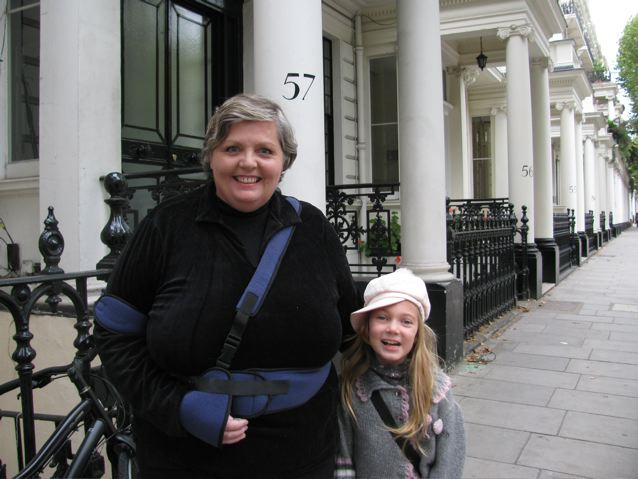 Celebrating Mothers! Mom and daughter in London