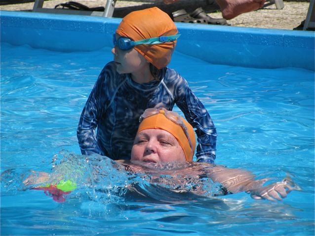 Celebrating Mothers! Swimming in Italy