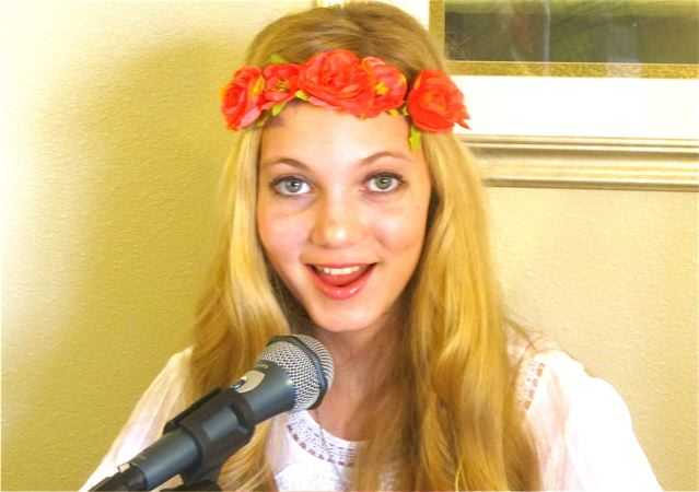 Beautiful travel teen Mozart is an amazing singer, songwriter and musician