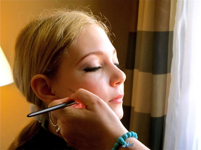 teen singer Mozart getting professional makeup for pop star look