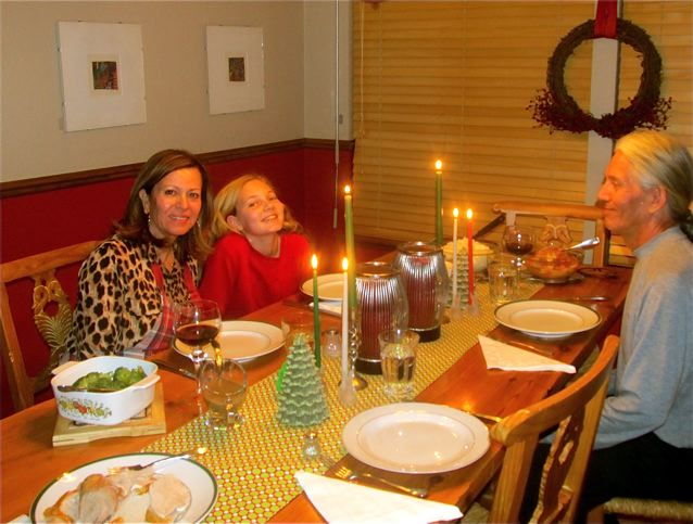 Enjoying our healthy Christmas feast