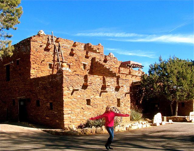 travel kid Mozart at Hopi House at the Grand Canyon