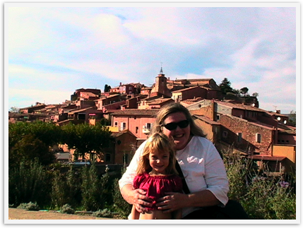 Celebrating Mothers! Mom and daughter in Provence, France